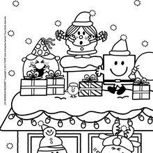 Coloriage : Joyeux Noel sous la neige