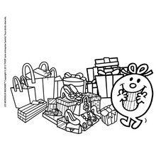 Coloriage : Joyeux Noel Madame Canaille