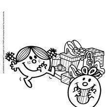 Coloriage : Les cadeaux de Madame Canaille