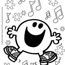 Coloriage : Joyeux Noel Monsieur Heureux