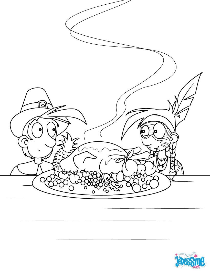 Coloriages la dinde de thanksgiving - Dessin de dinde ...