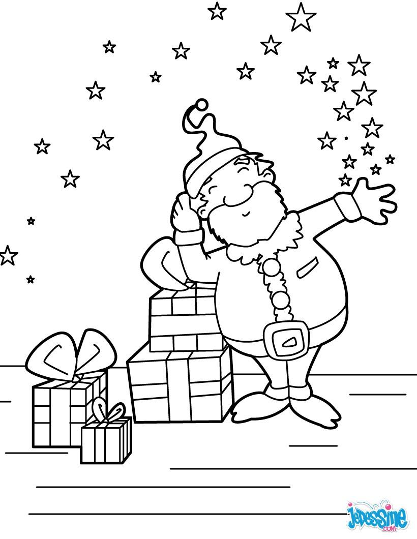 Coloriages Père Noël Et Cadeaux Fr Hellokids Com