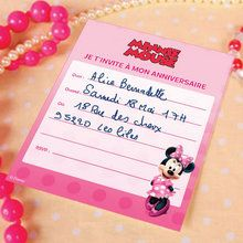 Cartes d'invitation Minnie