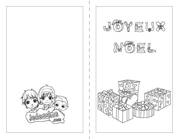 Carte joyeux noel coloriage - Noel a colorier ...