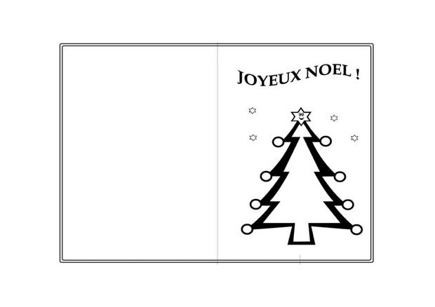 Coloriages d corations du sapin - Dessin carte de noel ...