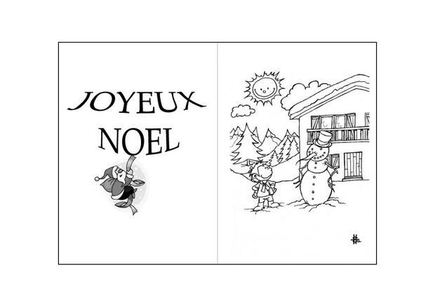 Coloriages le bonhomme de neige et le petit garçon   fr.hellokids.com