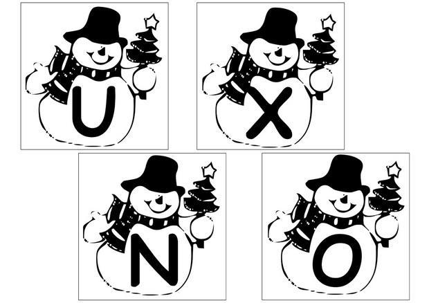 Coloriages lettres bonhomme de neige 2 - Alphabet de noel ...