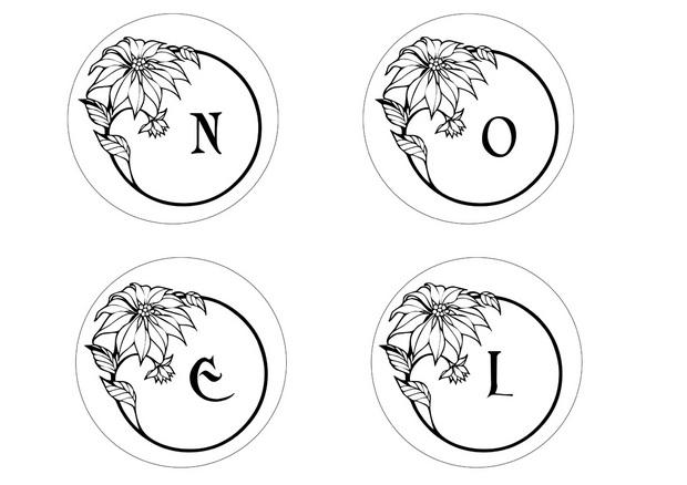 Coloriages lettres boules de noel 2 - Lettre de noel a imprimer ...