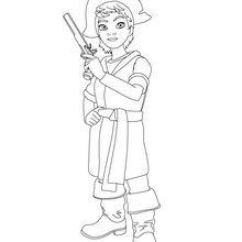 Coloriage : La petite fille des brigands