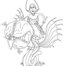 Coloriage : La reine des neiges à colorier
