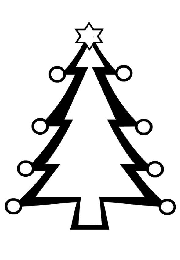 Patron sapin de Noël à imprimer
