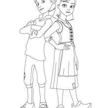 Coloriage : Kai et Gerda