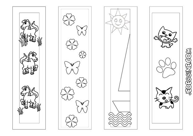 coloriages 4 signets animaux et nature colorier. Black Bedroom Furniture Sets. Home Design Ideas