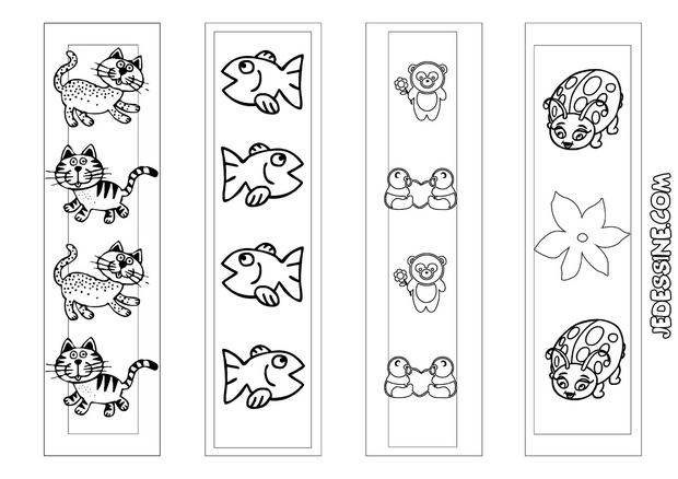 coloriages 4 signets d 39 animaux colorier. Black Bedroom Furniture Sets. Home Design Ideas