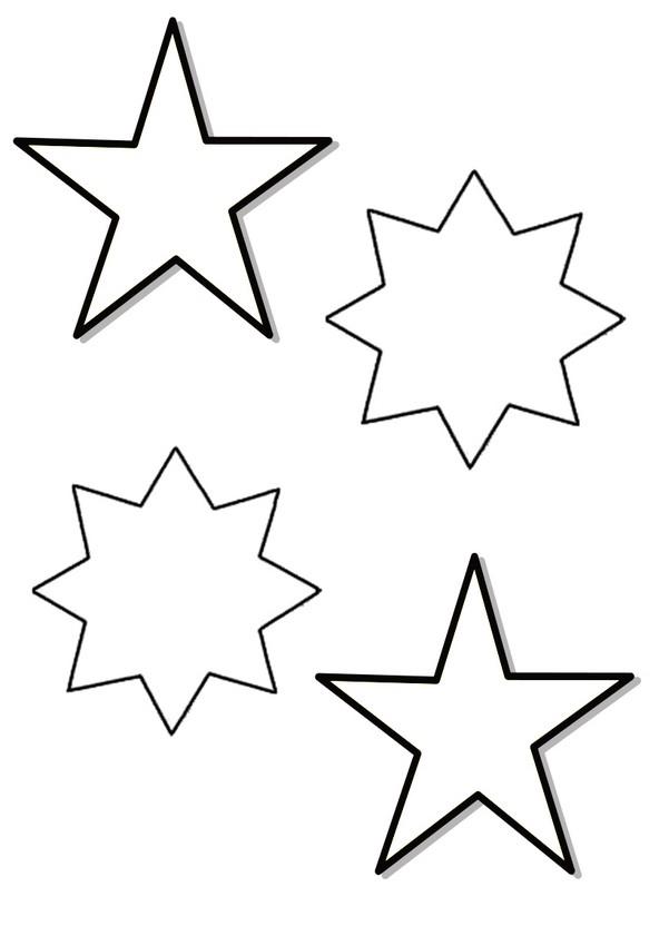 Patron étoiles de Noël à imprimer