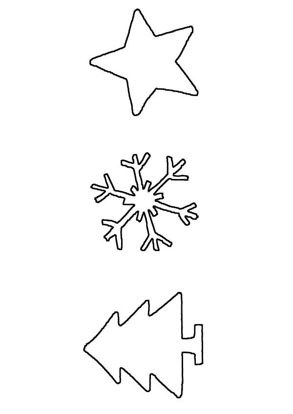 Motif de Noël à décalquer