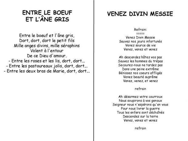 Chants de No��l - Chanson de No��l Divin Messie / Le boeuf et l��ne gris