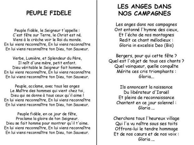Chants de No��l - Chanson de No��l Les anges / Peuple fid��le