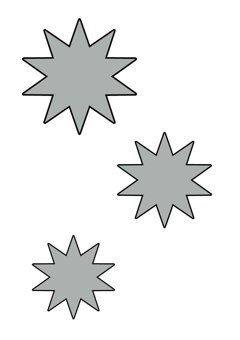 Pochoir étoile