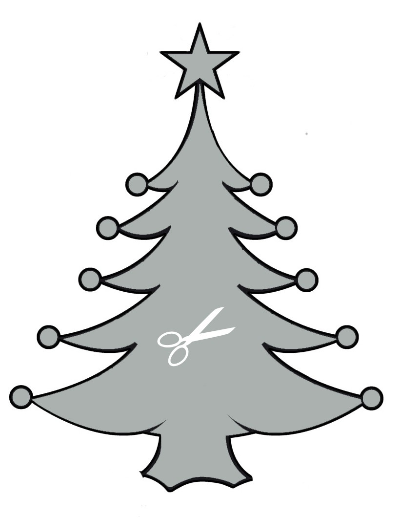 Pochoir de Sapin de Noël