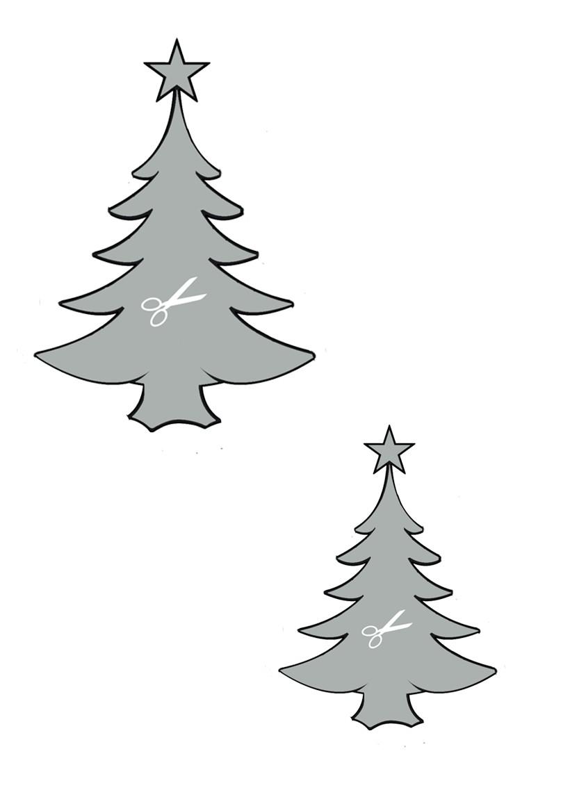 Pochoir de sapins de Noel