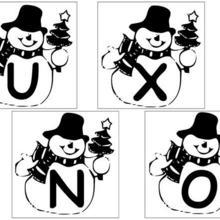 Coloriage : Lettres Bonhomme de neige - 2