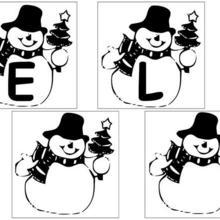 Lettres Bonhomme de neige - 3