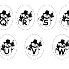 Lettres bonhomme de neige : Q à W
