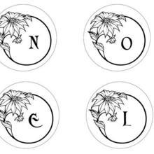 Coloriage : Lettres Boules de Noel - 2