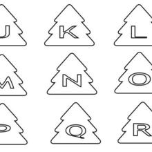 Coloriage : Lettres en Sapin : de J à R