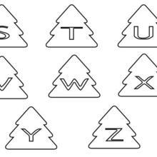 Coloriage : Lettres en Sapin : de S à Z
