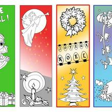 Marque-page : 4 signets de Noël à imprimer
