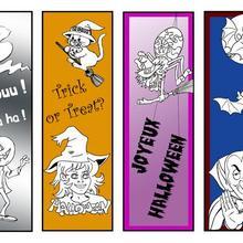 Marque-page : 4 signets Halloween à imprimer