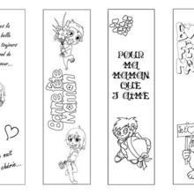 Marque-page : 4 signets fête des mères à colorier