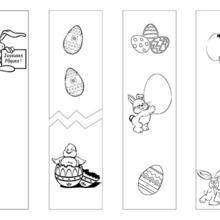Marque-page : 4 signets Pâques à colorier