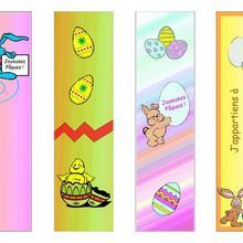 Marque-page : 4 signets pour Pâques