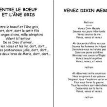Chanson de Noël Divin Messie / Le boeuf et l'âne gris