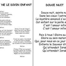 Chanson de Noël Le divin enfant / Douce nuit