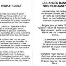 Chanson de Noël Les anges / Peuple fidèle