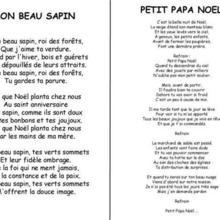 Chanson de Noël Mon beau sapin / Petit Papa-Noël