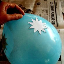 Ballon de décoration : étoiles