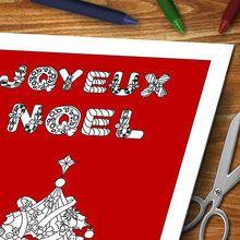 Cartes de voeux de Noël à colorier