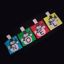 La guirlande de Noël à colorier