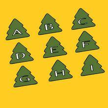Coloriage Alphabet, lettres de Noël à imprimer