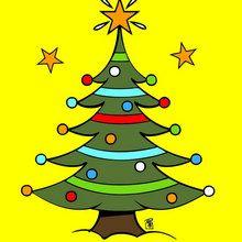 Coloriage de Sapins de Noël