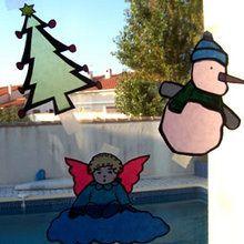 Faire des vitraux de Noël