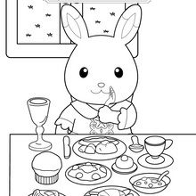 Coloriage : A table !