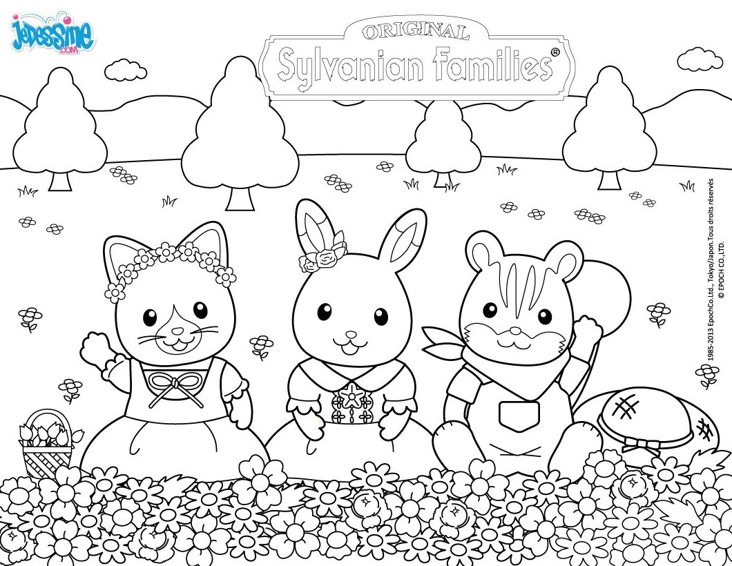 Calico Critters Coloring Pages #2