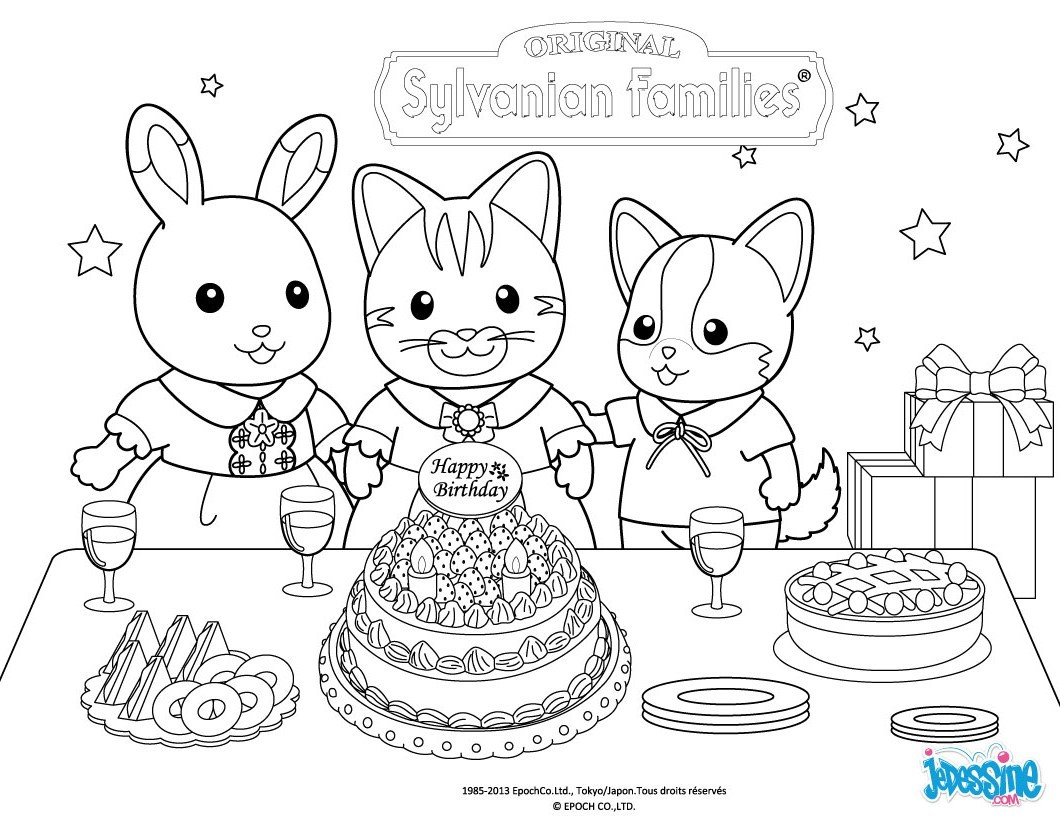 Calico Critters Coloring Pages #1