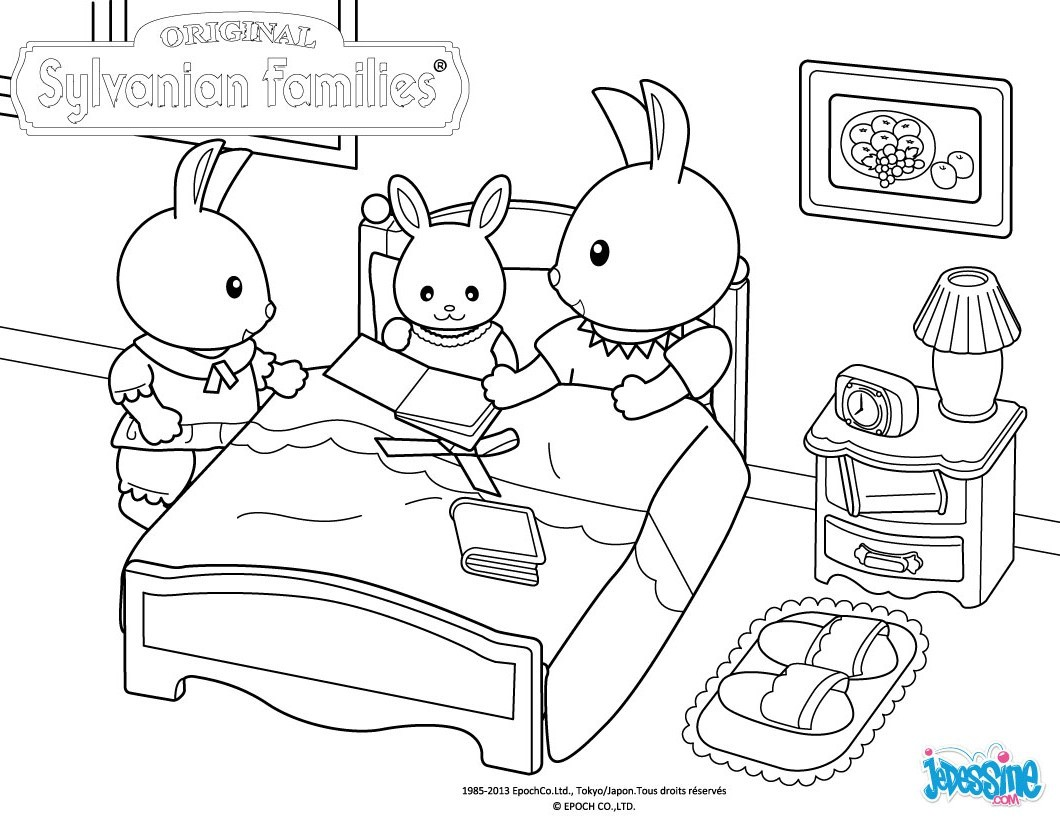 Sylvanian Families Free Colouring